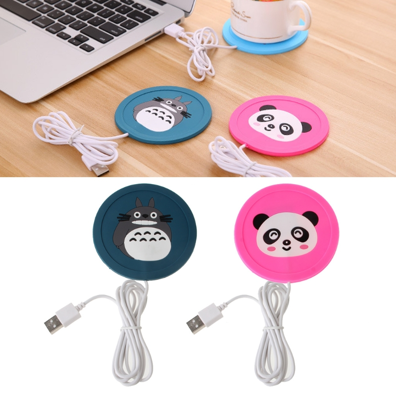 2018 new baby cartoon bottle heating 5V USB warm cup silicone heater coffee hot beverage drink coaster