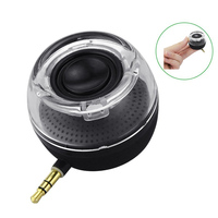 Smartphone 3 5mm Aux Audio Jack Plug In Line In Speaker Mini Compact Round Shape Powerful