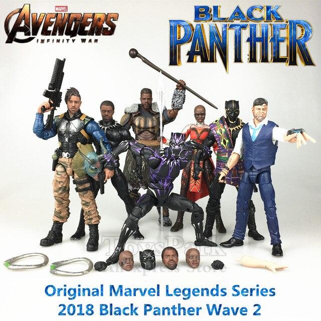 "Marvel Legends Black Panther Movie 6 ""Action Figure M'baku Baf Gelombang 2 T'chaka Erik Killmonger Klaue Dora Milaje Ungu mainan Boneka"