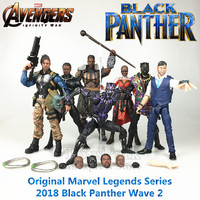 Marvel Legends Black Panther Movie 6 Action Figure M'Baku BAF Wave 2 T'Chaka Erik Killmonger Klaue Dora Milaje Purple Doll Toys