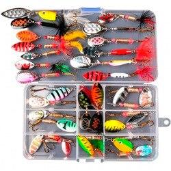 LUSHAZER набор рыболовных приманок, Спиннербейт воблер, металлические приманки, ложка, искусственные приманки без коробки, жесткая наживка-Спи...
