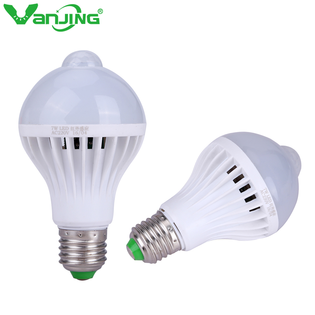 Pir Motion Sensor Bulb Lamp 5w 7w 9w E27 Led Bulb Lights Smart Bulb Infrared Motion Ampoule Led