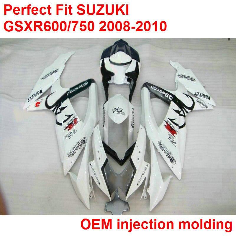NºKit de carenado de motocicleta de inyección para Suzuki GSXR600 ...