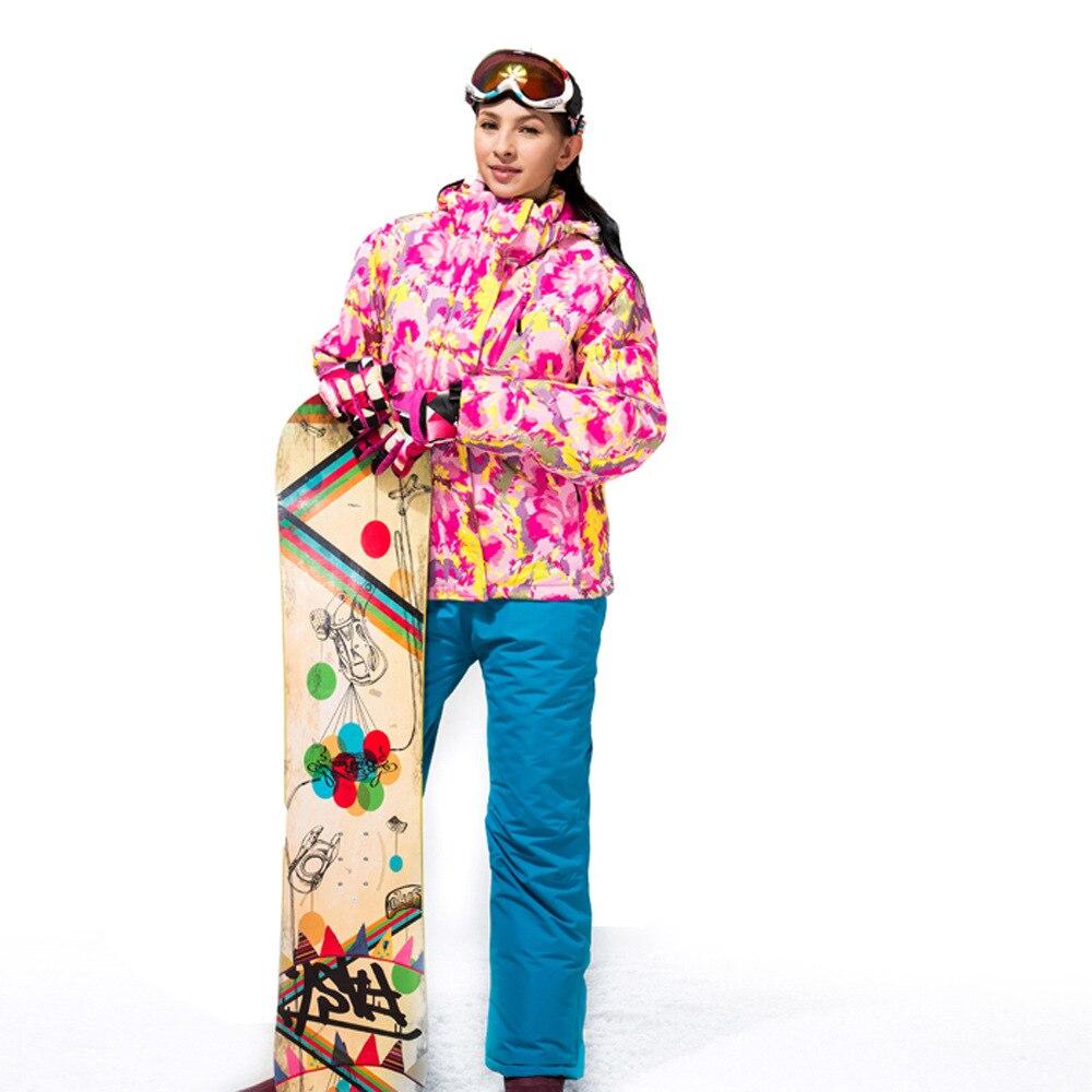 Prix pour Hiver Ski Ensembles Vestes Femmes Ski Costumes Vestes + Pantalon Snowboard Vêtements Escalade Veste de Ski Imperméable et Respirante Chaud
