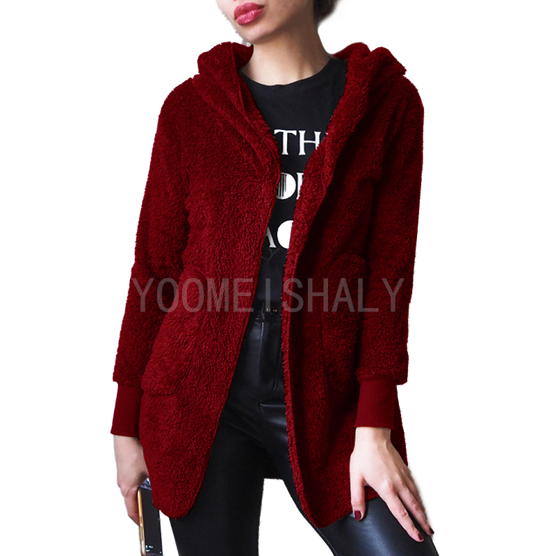 Fleece Sweater Cardigan Fashion Women Sueter Solid-Color Casual High-Quality New Hot