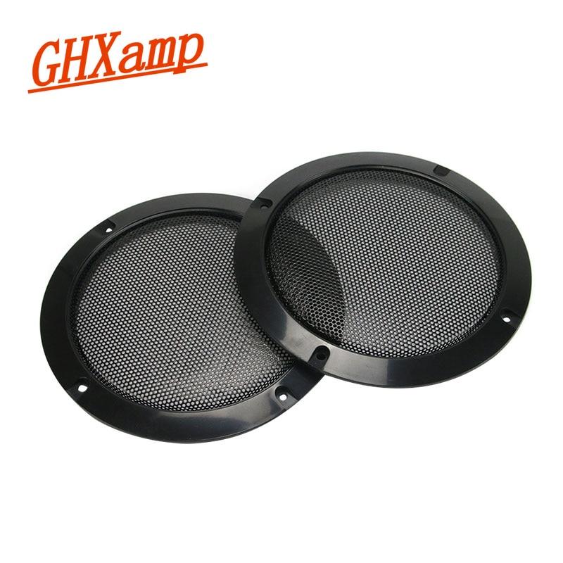 GHXAPM 2PCS 6 inci Speaker dedicat Carcasa din plasă Grila de difuzor Protejați capacul Plasă decorativă
