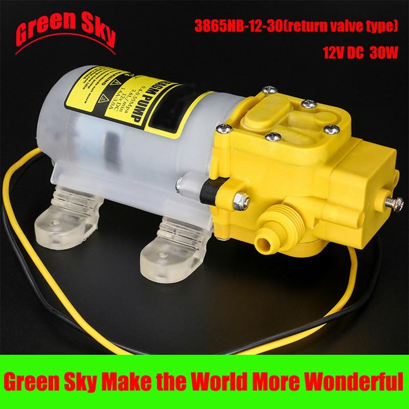 Electric sprayer pump watering irrigation usage 30W dc 12v high pressure water pump 1 inch gasoline water pump 30m high pressure strong power irrigation water pump