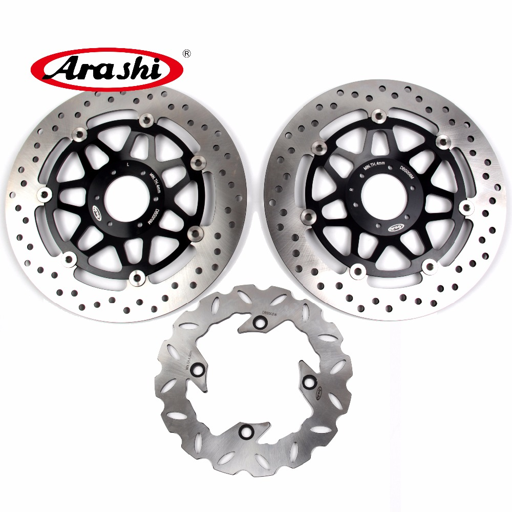 Arashi 1 Set For HONDA CBR900RR 1994 1995 1996 1997 CBR 900 RR Floating Front Brake disk & Rear Brake Disc Rotor CNC aluminum 2 pieces motorcycle front disc brake rotor scooter front rear disc brake rotor for honda cb400 1994 1995 1996 1997 1998