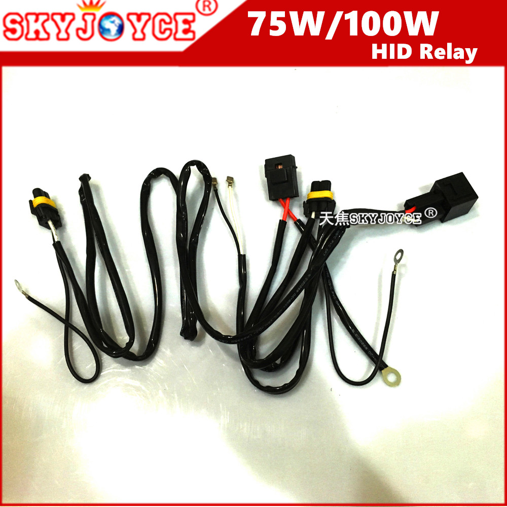 40A 75W Wire Relay wire harness for spotlights HID Drive Work Light 35W 55W 100W 75W Relay harness H7 H1 H3 9005/6 881 hid kit