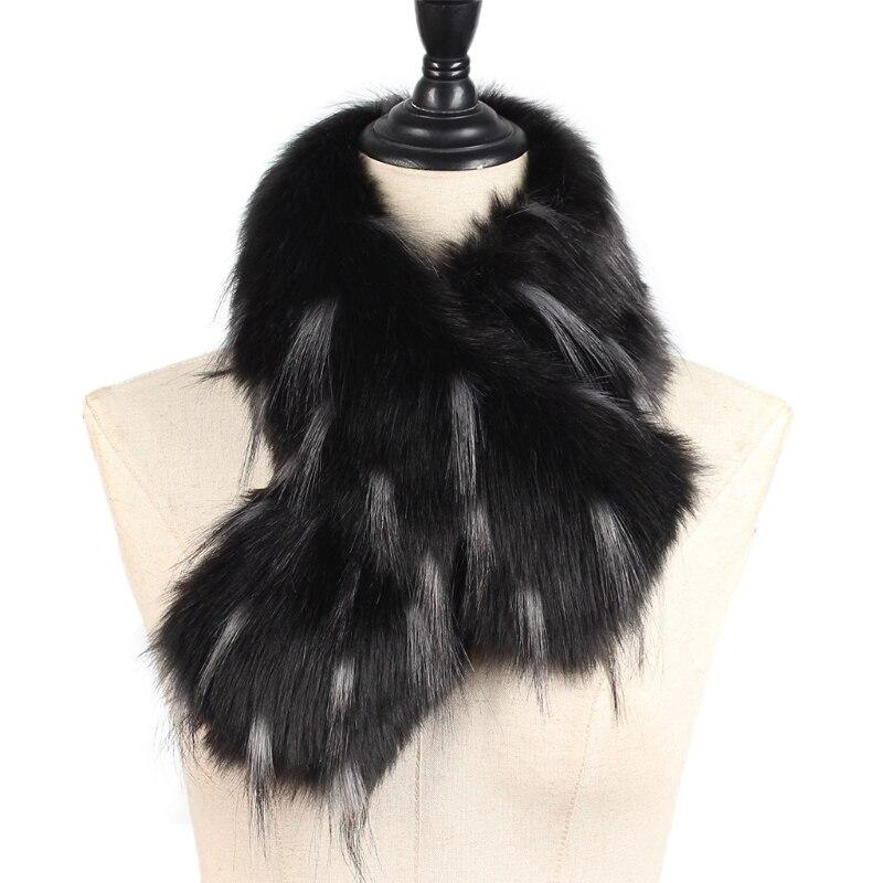 Womens Winter Faux Fake Fox Fur Straight Scarf Wrap Neck Collar Shawl Shrug Warm W715