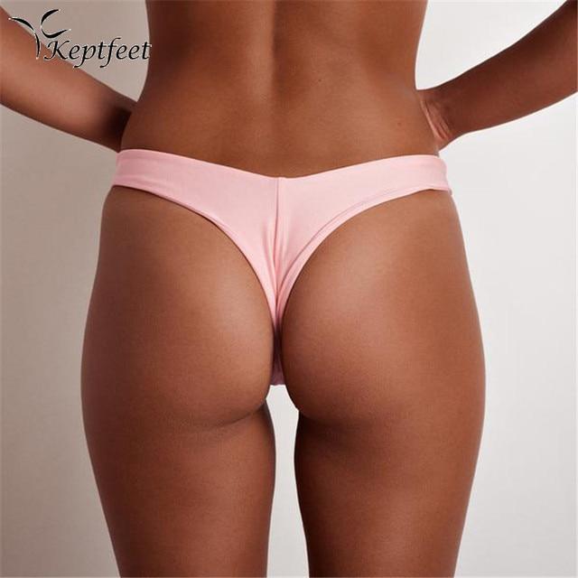 15345092f033cc € 3.13 19% de réduction|Taille basse string Bikini bas Sexy V maillots de  bain femmes plage maillot de bain femmes dans Deux Pièces Sépare de ...