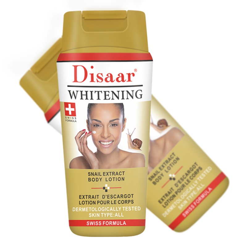 Natural Body Lotion Dark Skin Bleaching Moisturizing Whitening Body Cream Skin Whitening Body Care (Snail Extract) Hot Selling