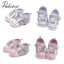 2018 Brand New Newborn Toddler Infant Baby Girl Cartoon Rabbit Crib Shoes Anti-slip Prewalker Cotton Sneaker Bunny First Walkers(China)