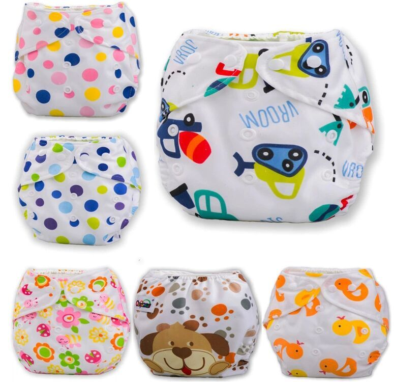 10 Piece Baby Adjustable Diapers/Children Cloth Diaper/Reusable Nappies/Diaper Cover/Training Pants/Washable/Free Size Ctrx0020