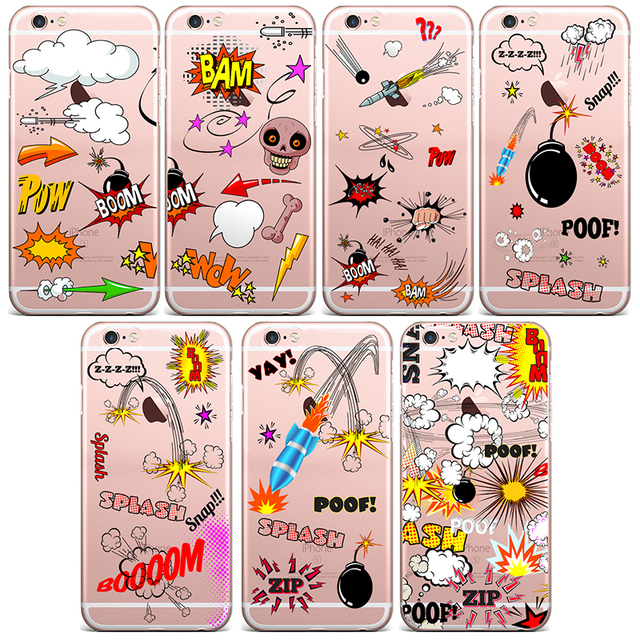 43a9814a2a For iphone 4 4s Case Trend Cool Stickers Series Soft TPU Phone Case For  iphone 5 5s 6 6s 6plus 6s plus 7 7 plus