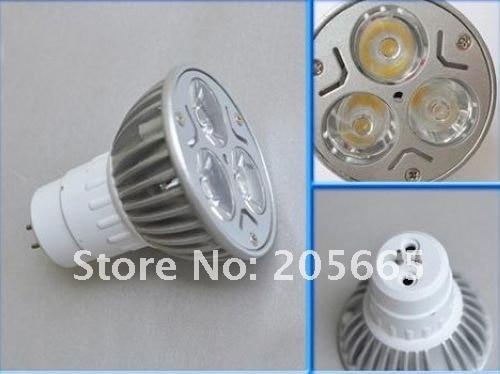 3X1 W MR16 GU5.3 Светодиодный точечный светильник лампа 3W Энергосберегающая AC85~ 265V
