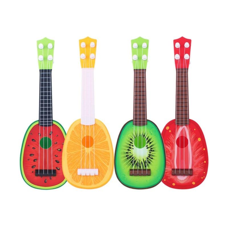 2017 Hot Baby Favorite Toys Instrumentos Musicais Crianças Early Education Puzzle Guitarra Criança Guitarra Toy Fruit Baby Plaything