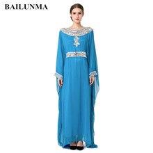 2019 Embroidery long sleeve muslim dress gown Dubai moroccan Kaftan clothing Caftan Islamic women Abaya Turkish arabic