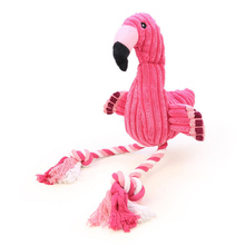Pink Screaming Flamingo Dog Toys Звуковые плюшевые писк-фламинго для маленьких больших собак Игрушка для собак Зоотовары для собак Chew Puppy Pets Products
