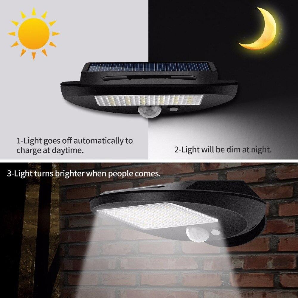 Image 4 - LED Solar Power PIR Motion Sensor Wall Light Outdoor Waterproof Energy Saving Street Yard Path Home Garden Security Lamp 30 LEDsSolar Lamps   -