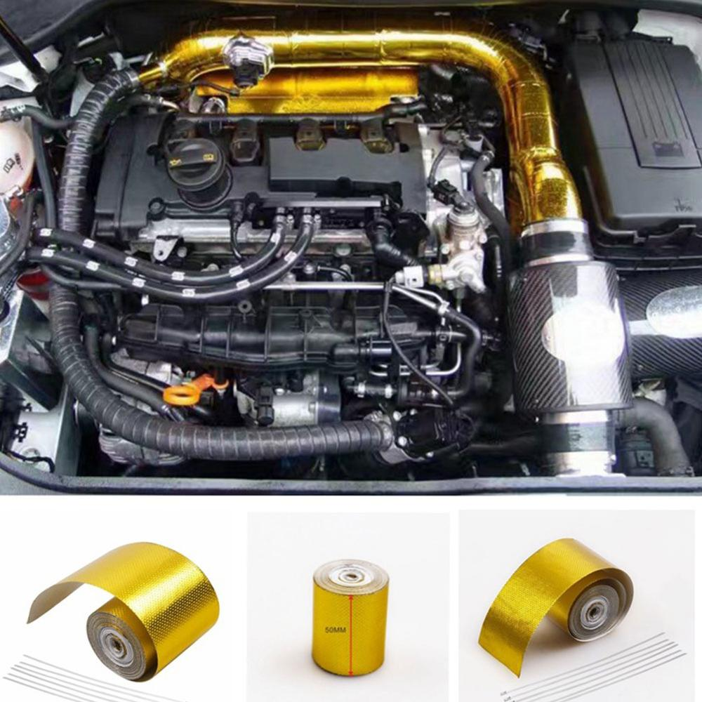 Image 1 - Car Thickened Heat Shield Reflective Aluminum Foil Tape Auto Engine Pipe Cover Temperature Isolat Adhesive-in Fillers, Adhesives & Sealants from Automobiles & Motorcycles