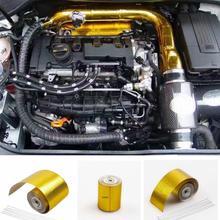 Carro Engrossado Escudo Térmico Tampa do Tubo De Fita Reflexiva Da Folha de Alumínio Auto Motor Temperatura Isolat Adesivo