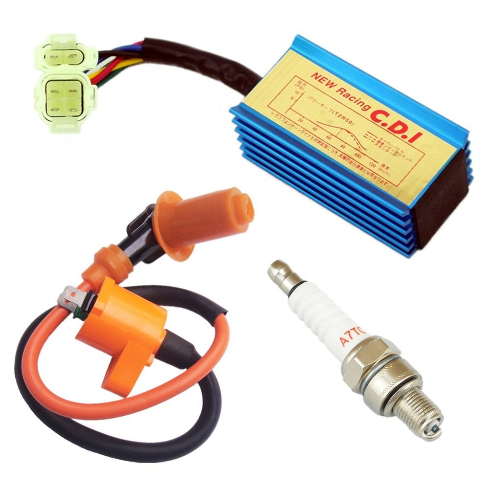 Racing Ignition Coil CDI Spark Plug GY6 50cc - 125cc 150cc 4-stroke Engines Scooter ATV Go Kart Moped Pit Dirt Bike Quad TaoTao Buyang Roketa Sunl