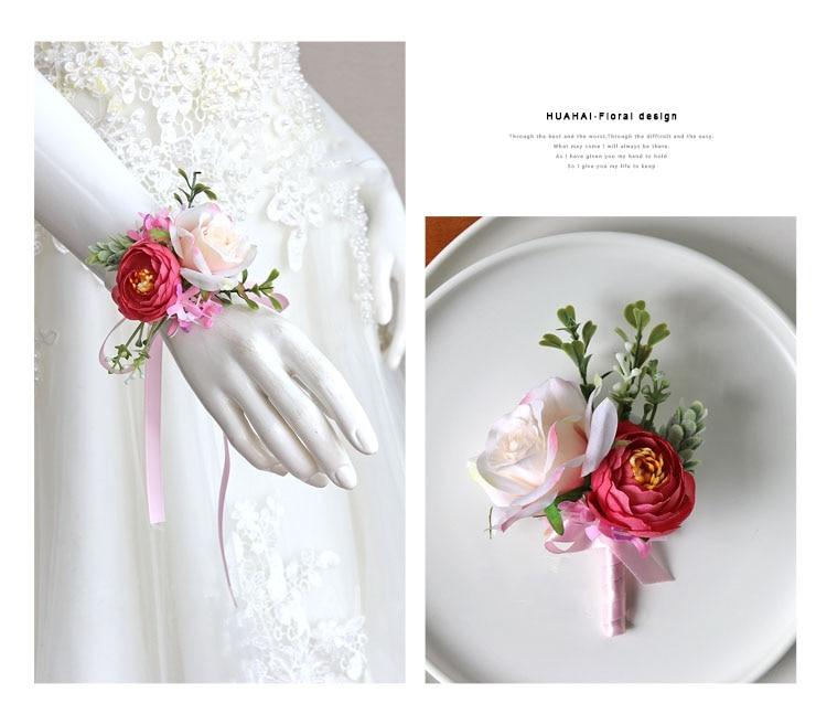 wedding boutonniere wrist corsage marriage  (29)