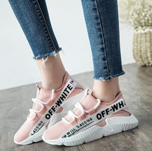 High Quality Women Sneakers Sport Shoes 2018 Spring Summer New Wild Breathable Ladys Girls Walking Shoes Free Shipping WK90