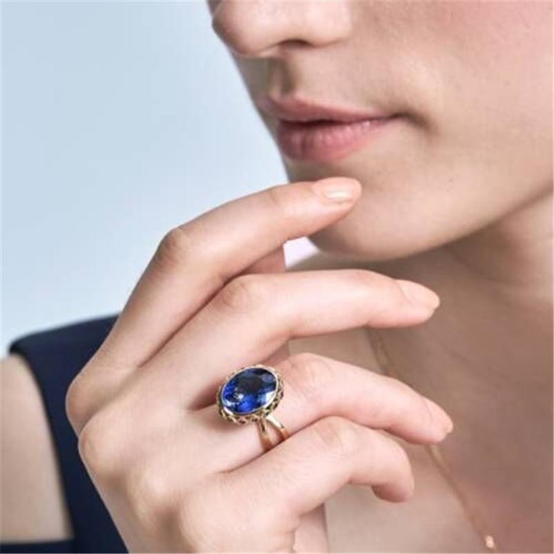 Sapphire Diamond Ring Bizuteria With Bague Etoile 10K Gold Anillos De Diamante Jewelry For Wedding Fashion Women Rings Gemstones