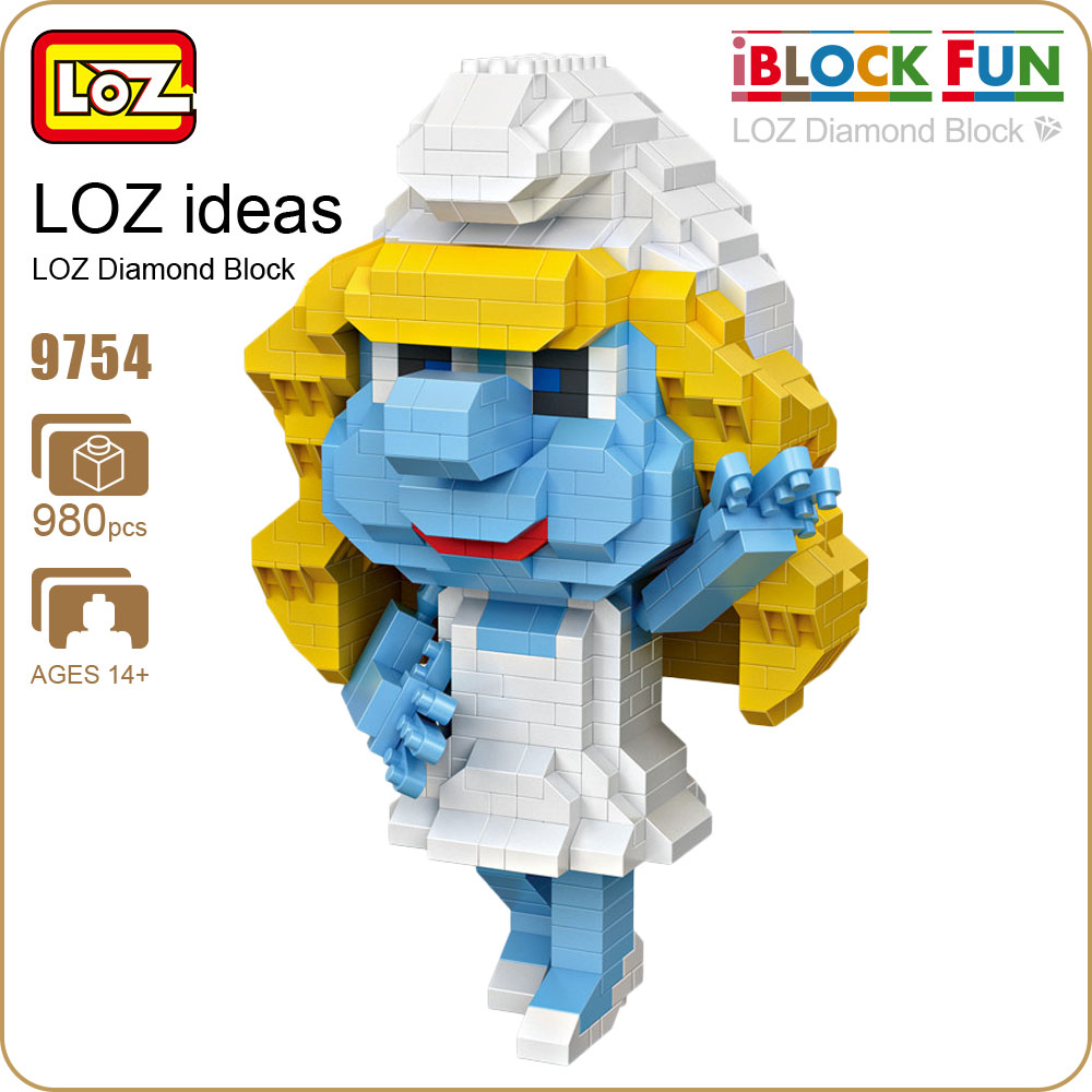 LOZ Diamond Building Blocks Girls Friends font b Toys b font Doll Pixels Figure Blue Wizard