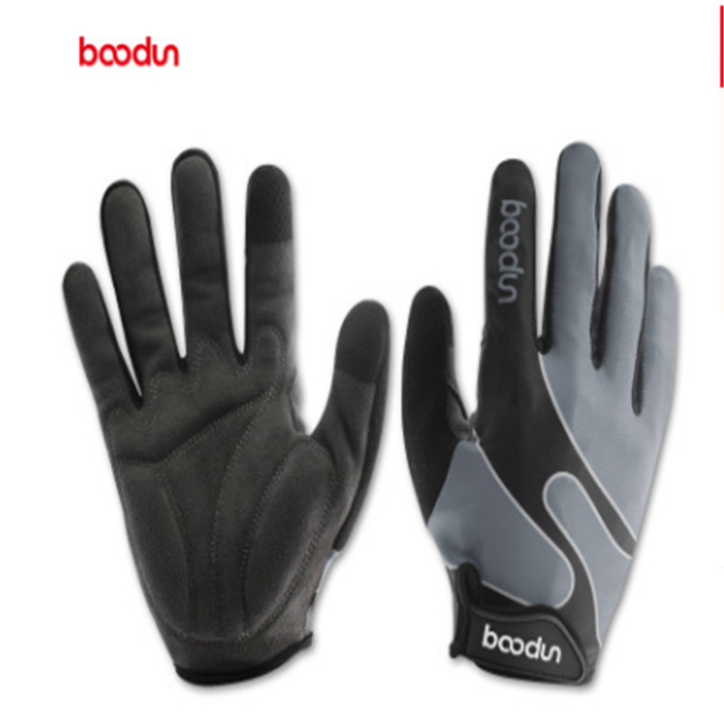 BOODUN Bicycle Long - fingered riding gloves Outdoor sports Leica Touch screen glove Magic sticker Keep warm Breathable