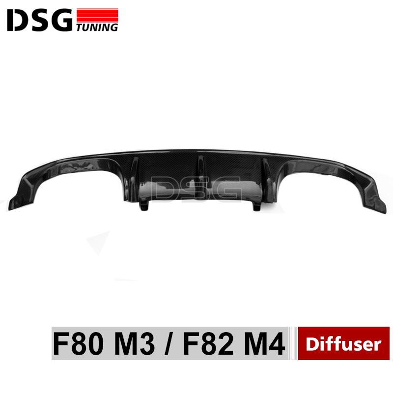 F80 F82 Carbon Fiber Rear Diffuser M Perforance Style For BMW M3 F80 / M4 F82 F83 Rear Bumper Lip