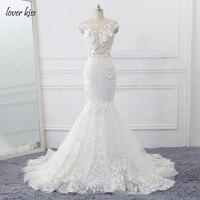 2016 Distinctive Ivory Beading Bridal Vestidos Full Appliques A Line Dress Wedding Gown V Neck