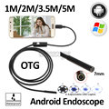 7mm 1M 1.5M 2M 3.5M 5M Android OTG USB Endoscope Camera Android Smart Mobile Phone USB Endoscope Snake USB Inspection Camera