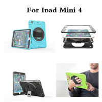 For Apple IPad Mini 4 Hard Back Case 360 Rotating Handle Strip Stand Kids Safe Cover