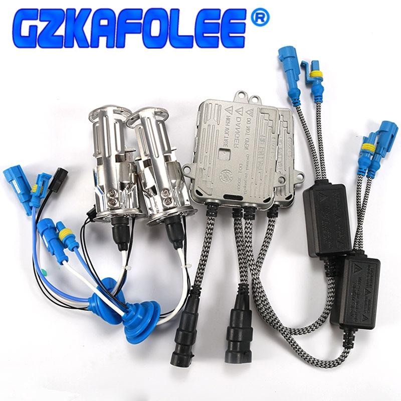 Gzkafolee Bi xenon h4 mini projecteur installation sans perte hid costume installation facile h4 xenon RHD LHD 55 W 6000 K 4300 K 8000 k