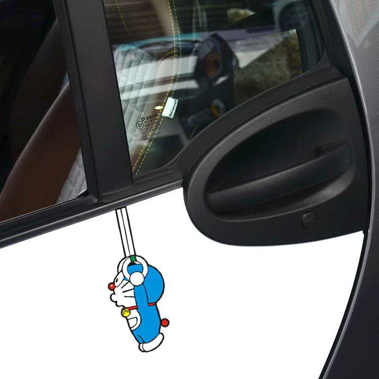 Aliauto Cartoon Car Sticker and Decal Doraemon Sports Rings Funny Accessories for Ford Focus Vw Skoda Polo Golf 7 Bmw Audi Kia