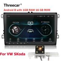 Двойной 2Din Автомобиль Радио Android 8 gps навигации автомобиля dvd плеер 9 ''для гольфа поло Passat Beetle Touran Wi Fi bluetooth 2 din радио