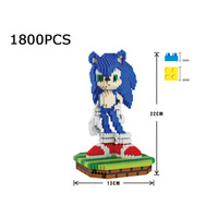 hot Japan Anime game image Hedgehog Sonic micro diamond building block assemable nanoblock model bricks toys for boys gifts