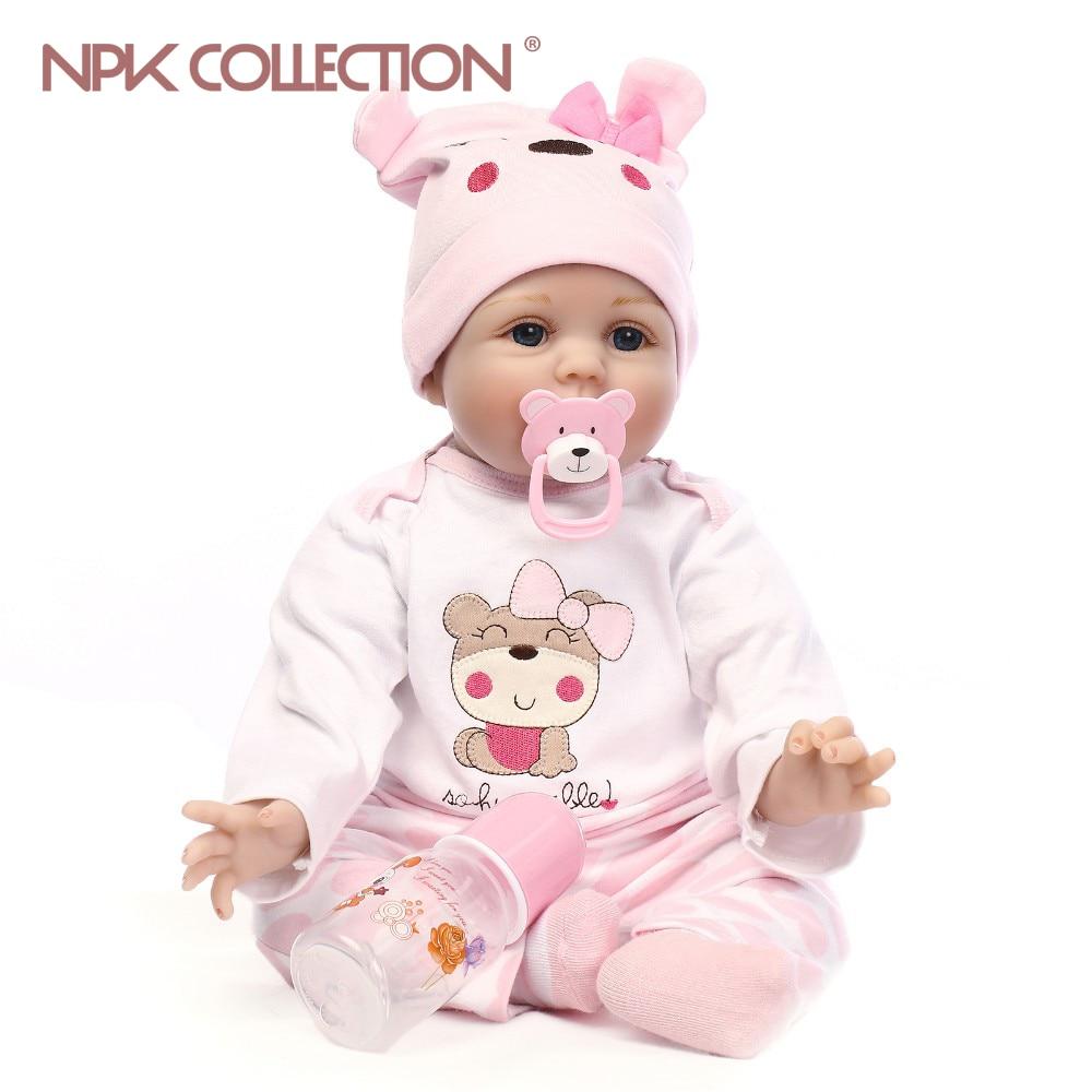 NPKCOLLECTION girl doll reborn silicone vinyl children play house toys bebe gift boneca reborn silicone reborn