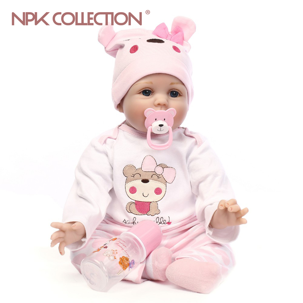 Soft Body Silicone Reborn Baby Doll Toy For Girls NewBorn Baby Birthday Gift To Child Bedtime Early Education Christmas Gift