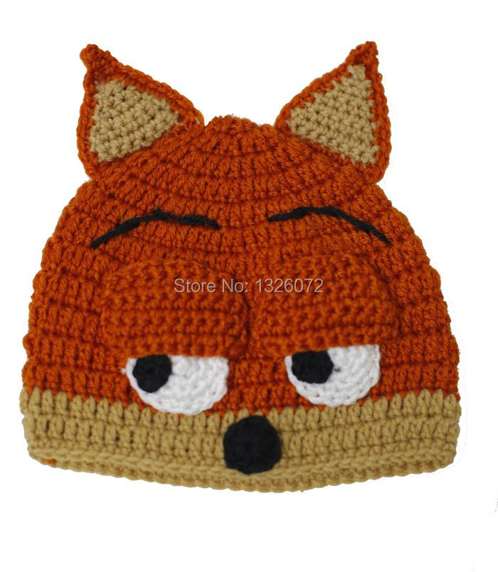 Handmade Crocheted Children Crazy Animal City Cool Beanies Adult