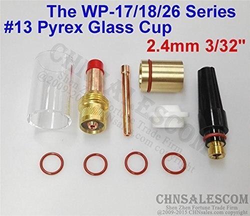 """18 pcs TIG Welding Gas Len 12# 42mm Pyrex Glass Cup WP-9//20//25 1//16/"""" 3//32/"""" 1//8/"""""""
