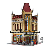 2404pcs Large Building Blocks Sets Factory City Street Palace Cinema Blocks Compatible Legoed Creator House Blocks