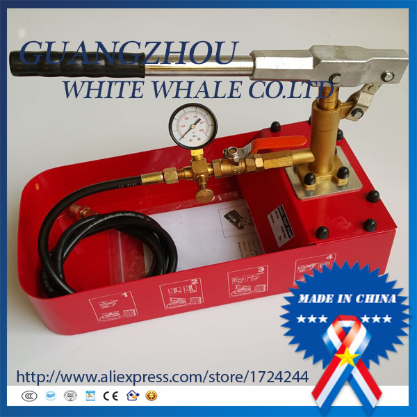 Manual Hydraulic Pump Testing Pump Pipeline Pressure Test tool 6MPA 0-50KG 1 6mpa pressure gauge ytnbf100