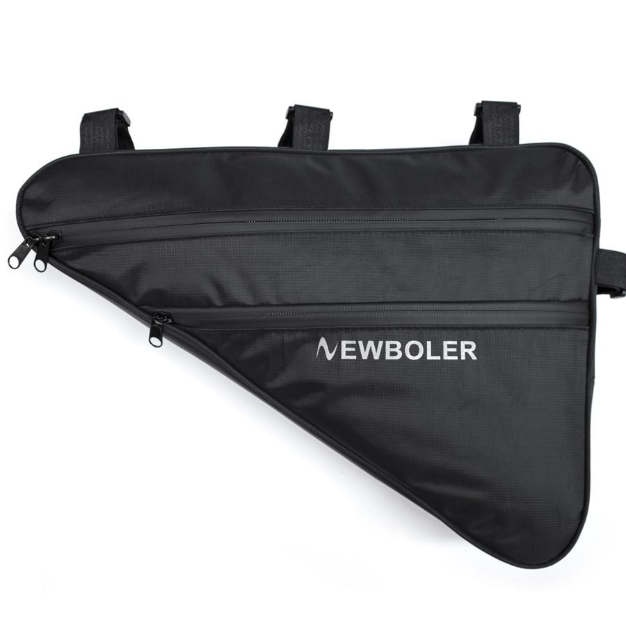 2018 NEWBOLER Large Bicycle Triangle Bag Bike Frame Front Tube Bag Waterproof Cycling Bag Pannier Ebike Tool Bag Accessories XL