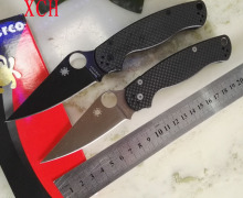 Custom High-end C81 carbon fiber handle 7 cr13mov folding knife blade, 58 HRC hunting knife, Tactical Camping Knives Outdoor Too
