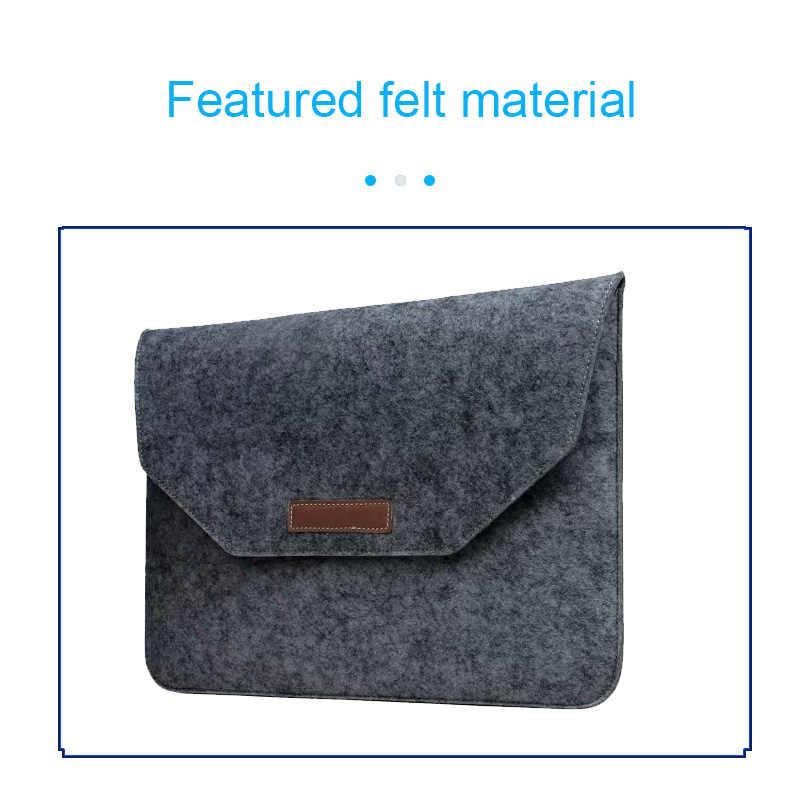 حقيبة لابتوب لينة تجارية (سابقا) الخشب فيلت كم حقيبة القضية ل أبل ماك بوك اير برو الشبكية 11 12 13 15 لابتوب ماك بوك 13.3 بوصة