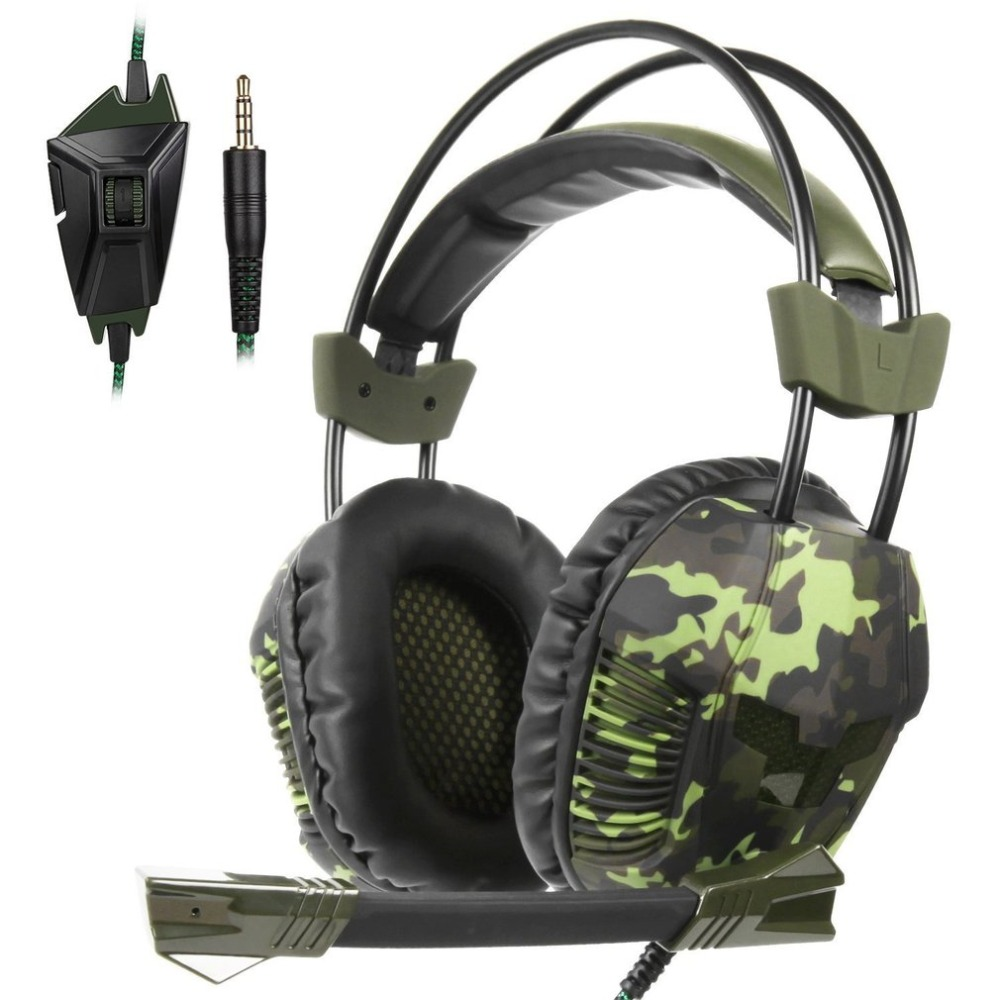 Ergonomic Stereo Sound 3.5mm Cable Wired Gaming Headphone Headband With Microphone Mic Laptop Tablet PC Headset For PS4 jul 6